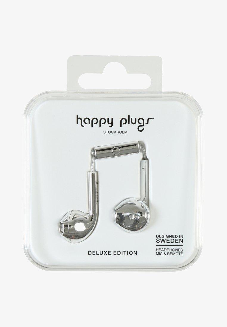 Happy Plugs - PLUS DELUXE - Høretelefoner - silver