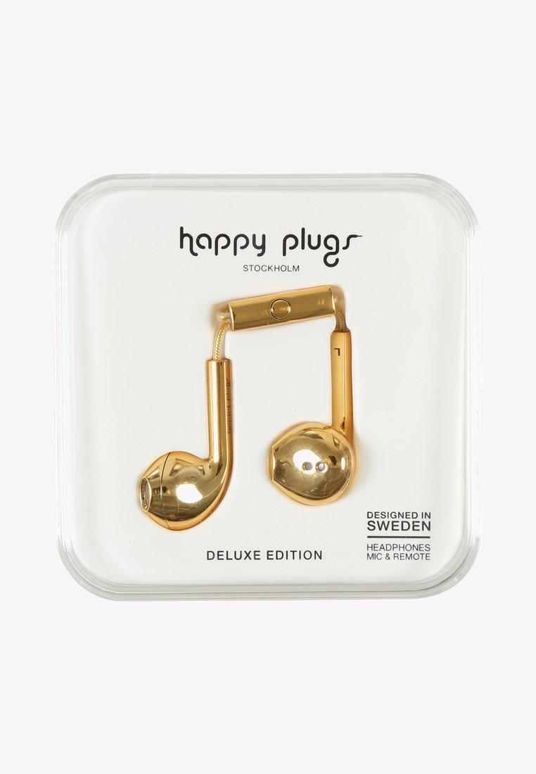 Happy Plugs - PLUS DELUXE - Høretelefoner - gold