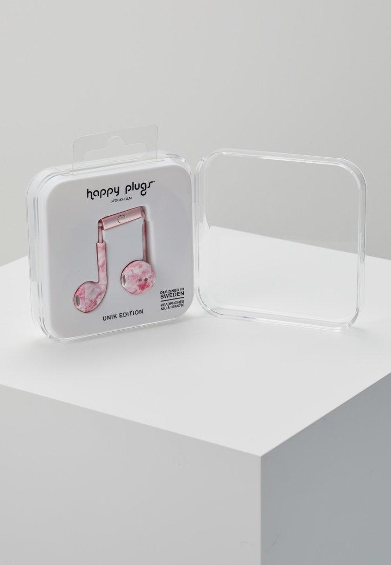Earbud Unik Pink PlusCasque Plugs Happy Marble xsCQthrdB
