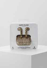 Happy Plugs - AIR 1 TRUE WIRELESS HEADPHONES - Høretelefoner - black/light brown - 3