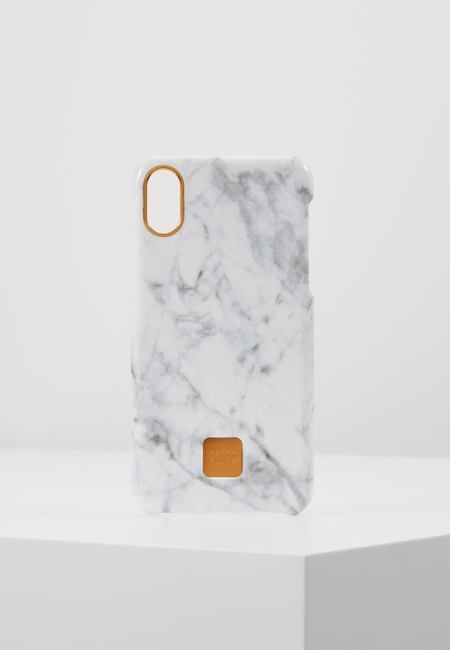 HAPPY PLUGS IPHONE X SLIM CASE - Mobiltasker - white marble