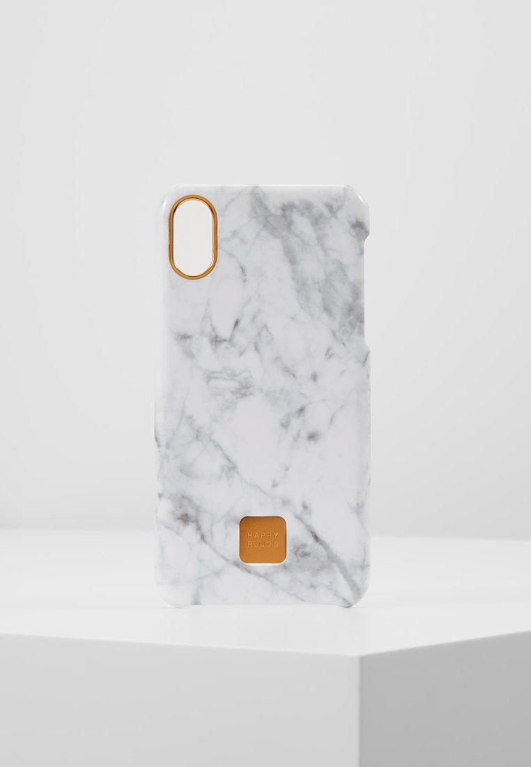 Happy Plugs - HAPPY PLUGS IPHONE X SLIM CASE - Mobiltasker - white marble