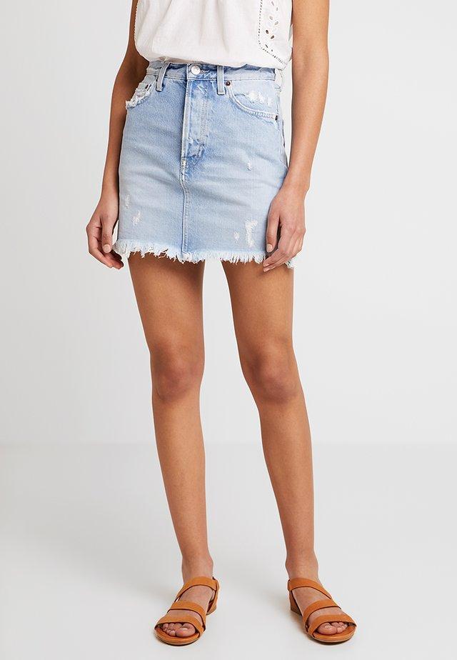 GEORGIA - A-line skirt - old blue denim