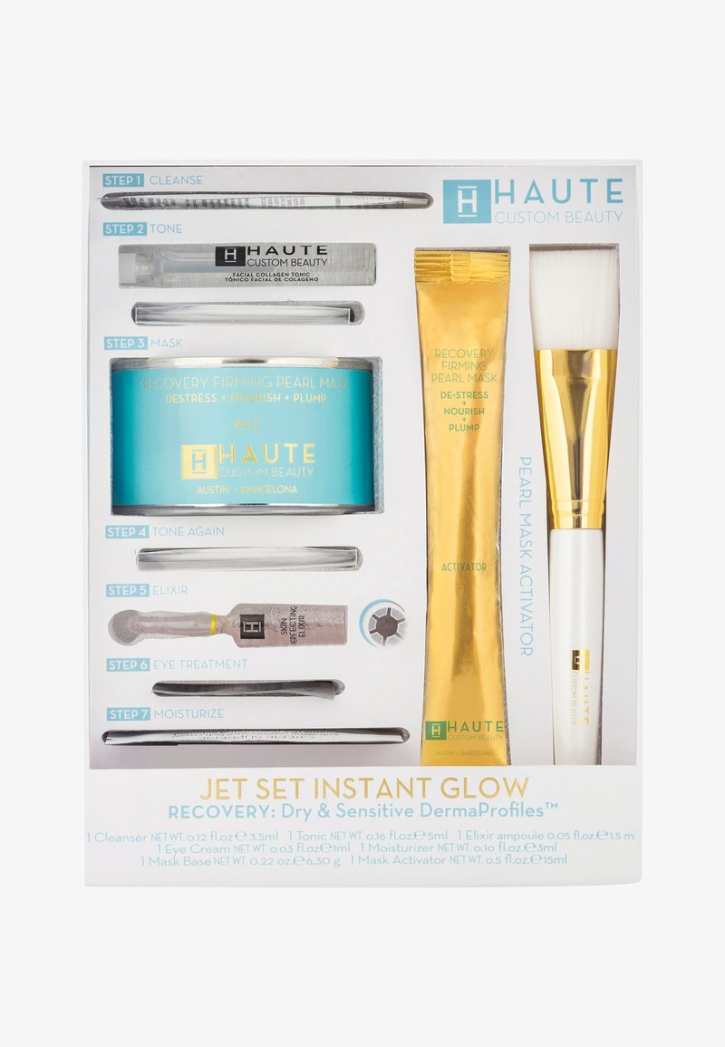 Haute Custom Beauty - JET SET INSTANT GLOW RECOVERY - Skincare set - -