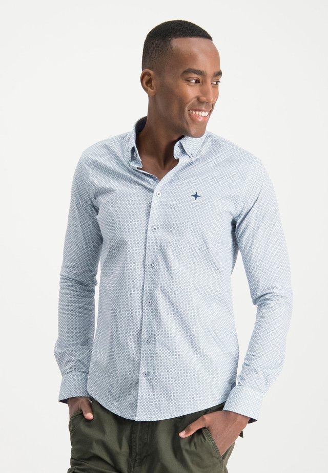 HAZE&FINN HEMD - Shirt - blueargyle