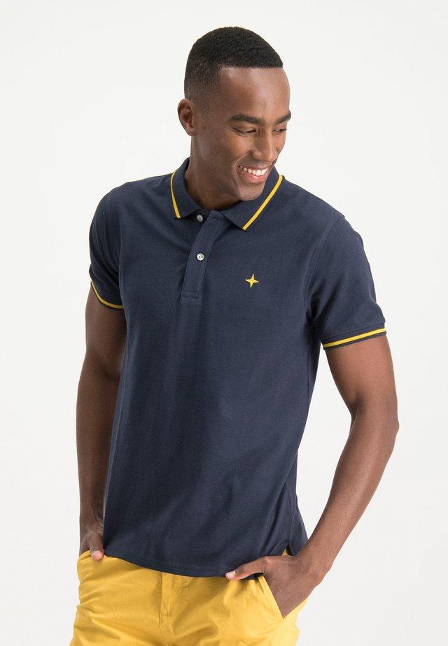 HAZE&FINN POLOSHIRT - Polo shirt - sapphire-mellowyellow