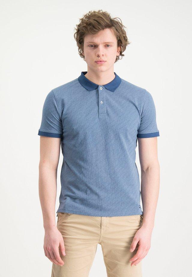 HAZE&FINN POLOSHIRT - Polo shirt - navyargyle
