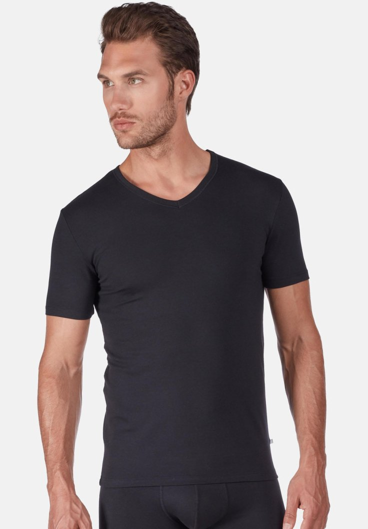 Huber Bodywear - T-Shirt basic - black