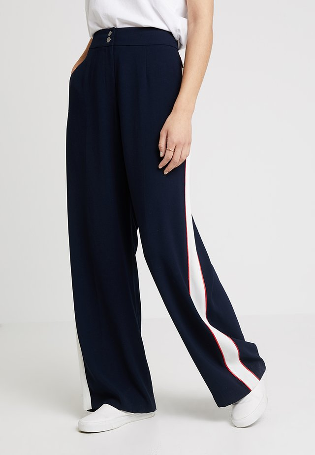 EMELYN TROUSER - Trousers - navy/ivory