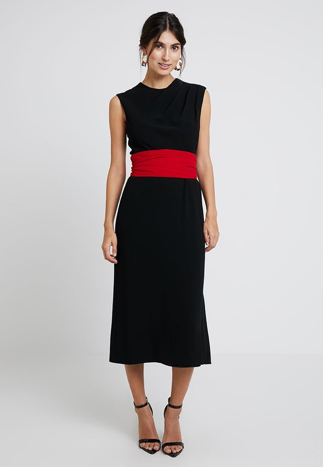 THAO DRESS - Maxikleid - black/red