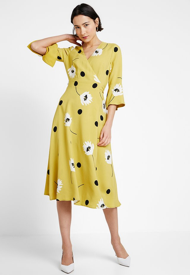 JEANNE DRESS - Sukienka letnia - yellow/black