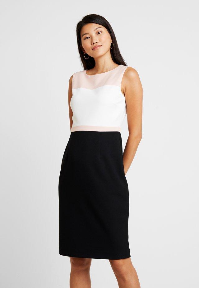 LEAH DRESS - Pouzdrové šaty - black/pink