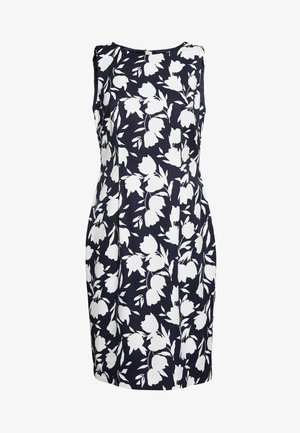 MOIRA DRESS - Shift dress - midnight/ivory