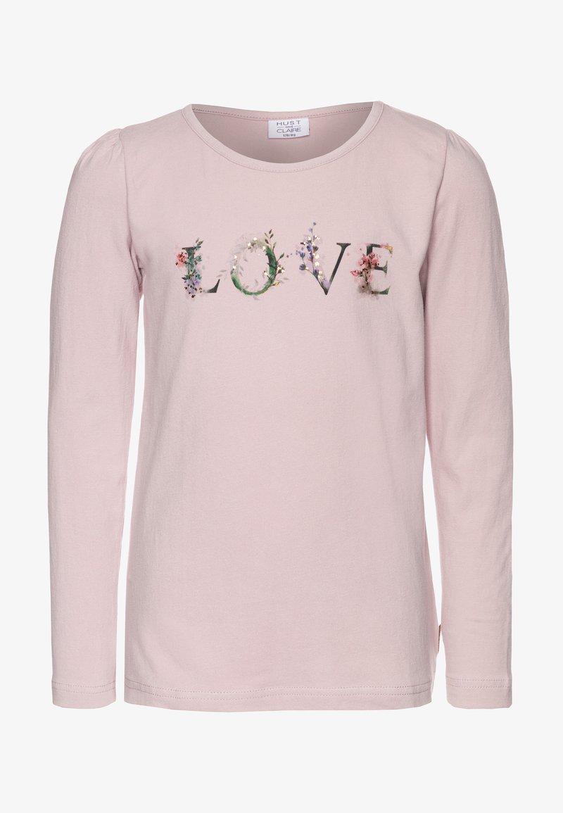 Hust & Claire - ANNSOFI - Top sdlouhým rukávem - light pink