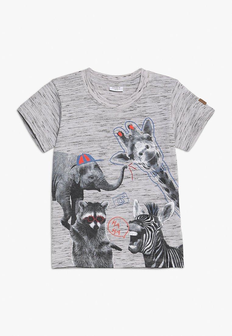 Hust & Claire - ARTHUR - Print T-shirt - light grey melange