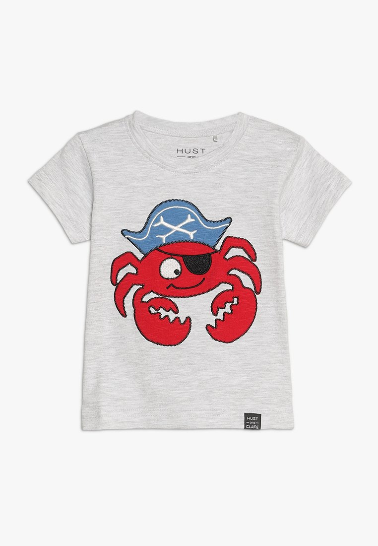 Hust & Claire - ANKER BABY - T-shirt con stampa - pearl grey melange