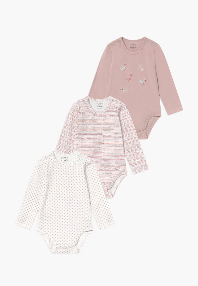 BABY 3 PACK - Body - pink/off-white