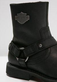 Harley Davidson - Botki kowbojki i motocyklowe - black - 5