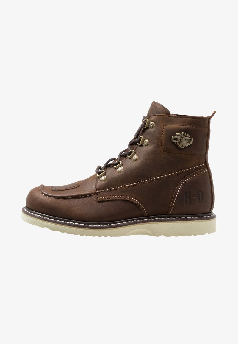 Harley Davidson - HAGERMAN - Lace-up ankle boots - brown