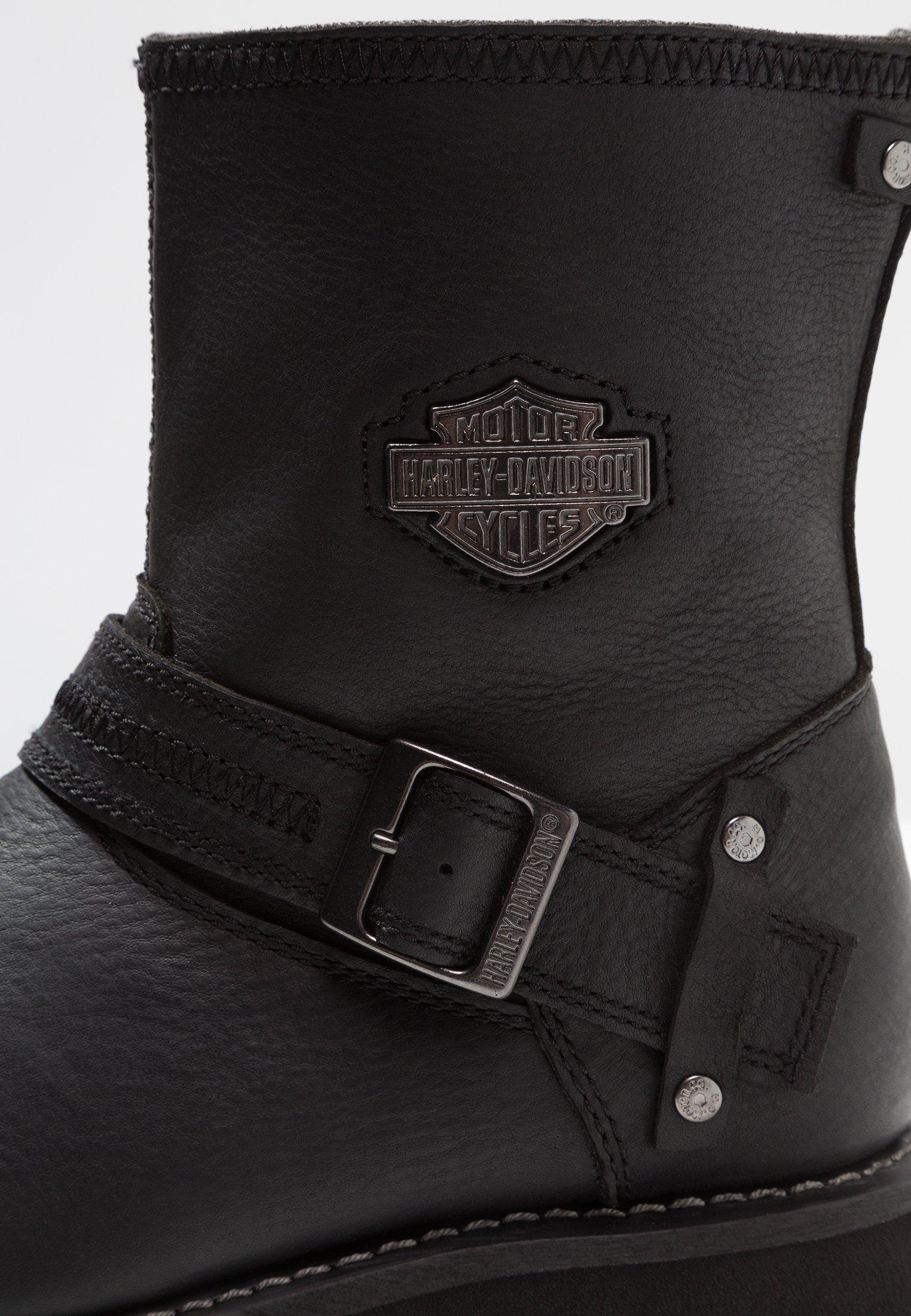 Harley Davidson Richton - Cowboy-/bikerlaarsjes Black Goedkope Schoenen