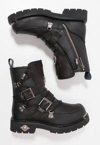 Harley Davidson - DISTORTION - Kovbojské/motorkářské boty - black - 1