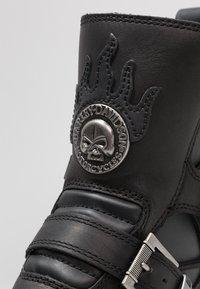 Harley Davidson - DISTORTION - Kovbojské/motorkářské boty - black - 5