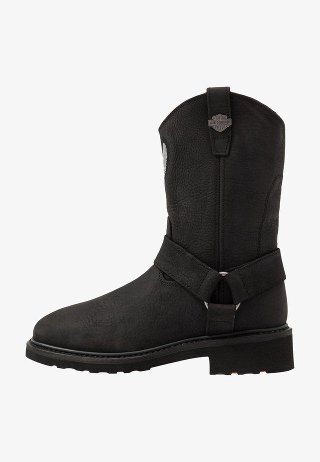 BALLARD - Kovbojské/motorkářské boty - black