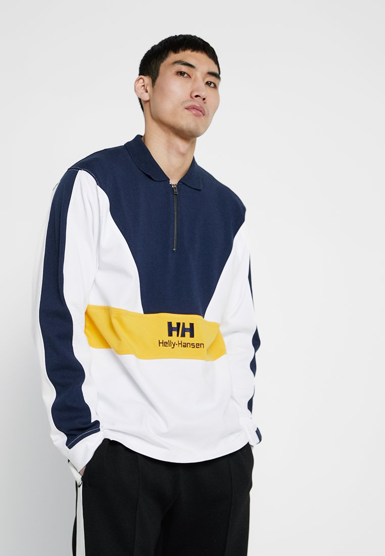 Helly Hansen - URBAN ZIP RUGGER - Poloshirt - white
