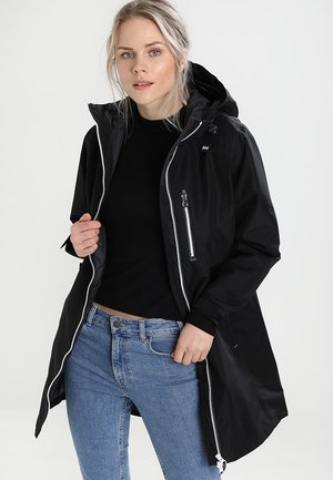 LONG BELFAST JACKET - Chaqueta outdoor - black