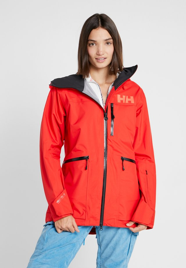 KVITEGGA SHELL JACKET - Snowboardová bunda - alert red