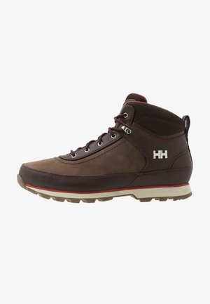 CALGARY - Hiking shoes - coffe bean/natura/red