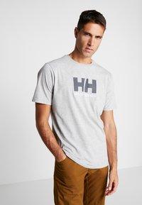 Helly Hansen - LOGO - Print T-shirt - grey melange - 0