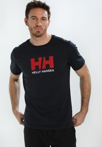 Helly Hansen - LOGO - T-shirt imprimé - navy - 0