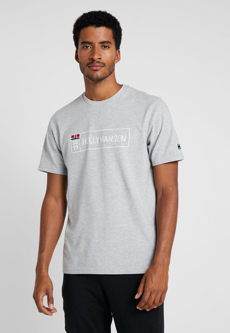 Helly Hansen - T-shirt print - grey melange