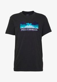 Helly Hansen - NORD GRAPHIC  - Print T-shirt - ebony - 4
