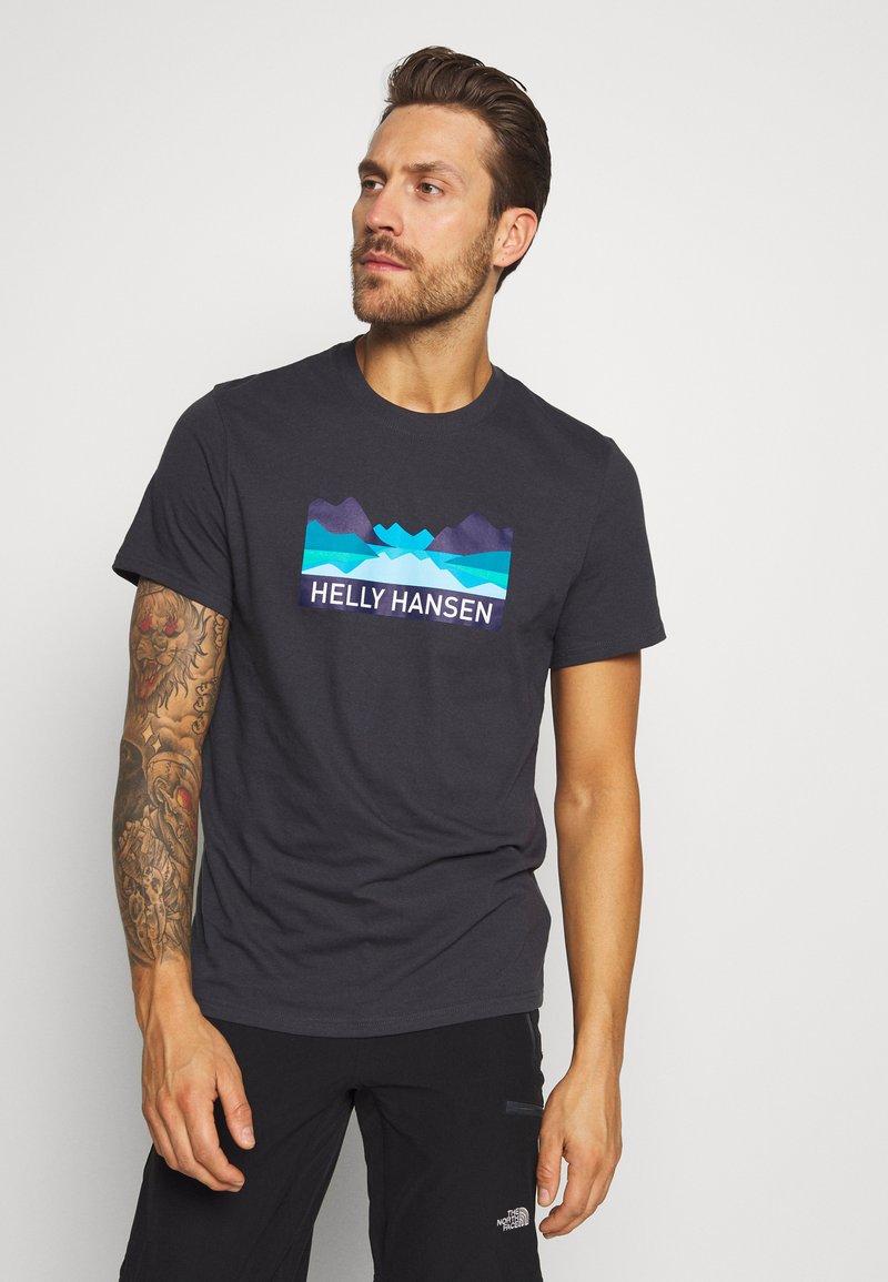Helly Hansen - NORD GRAPHIC  - Print T-shirt - ebony
