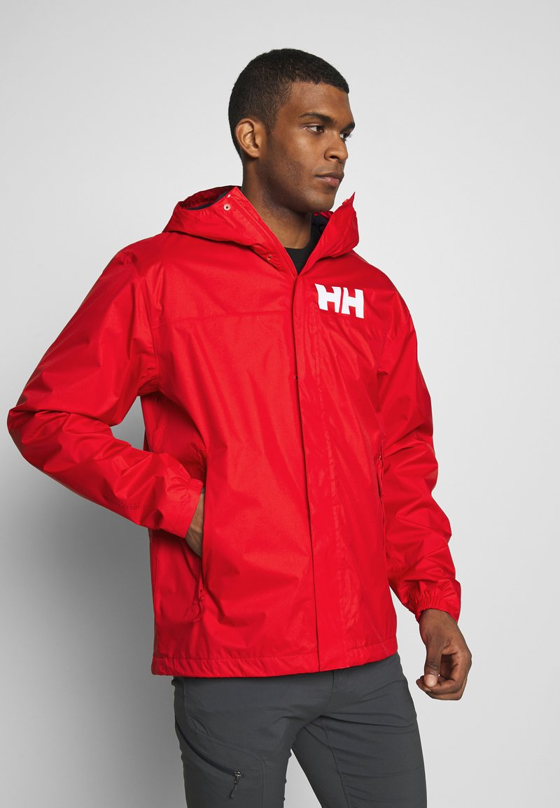 Helly Hansen - ACTIVE JACKET - Regnjacka - alert red