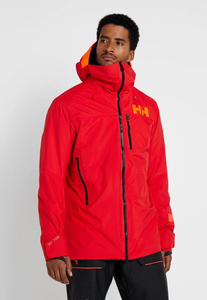Helly Hansen - STRAIGHTLINE LIFALOFT JACKET - Snowboardová bunda - alert red