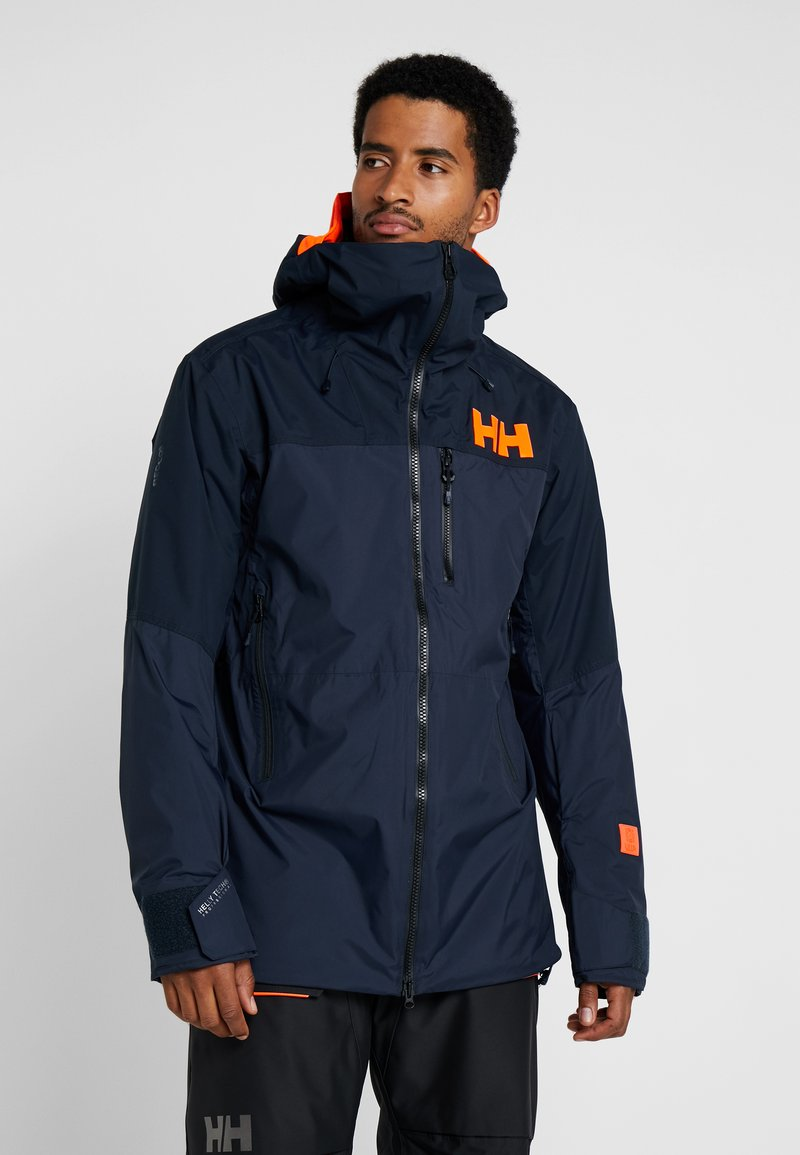 Helly Hansen - STRAIGHTLINE LIFALOFT JACKET - Snowboardová bunda - navy