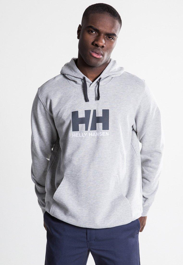 Helly Hansen - LOGO HOODIE - Sweat à capuche - grey melange