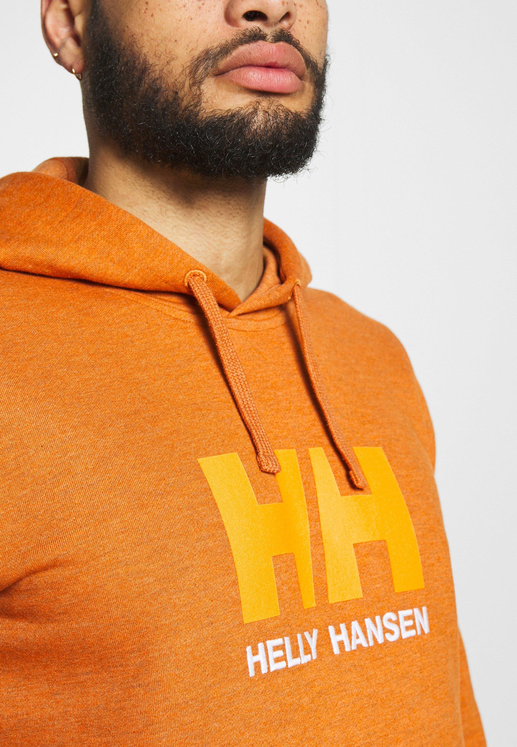 Helly Hansen LOGO HOODIE - Bluza z kapturem - marmalade