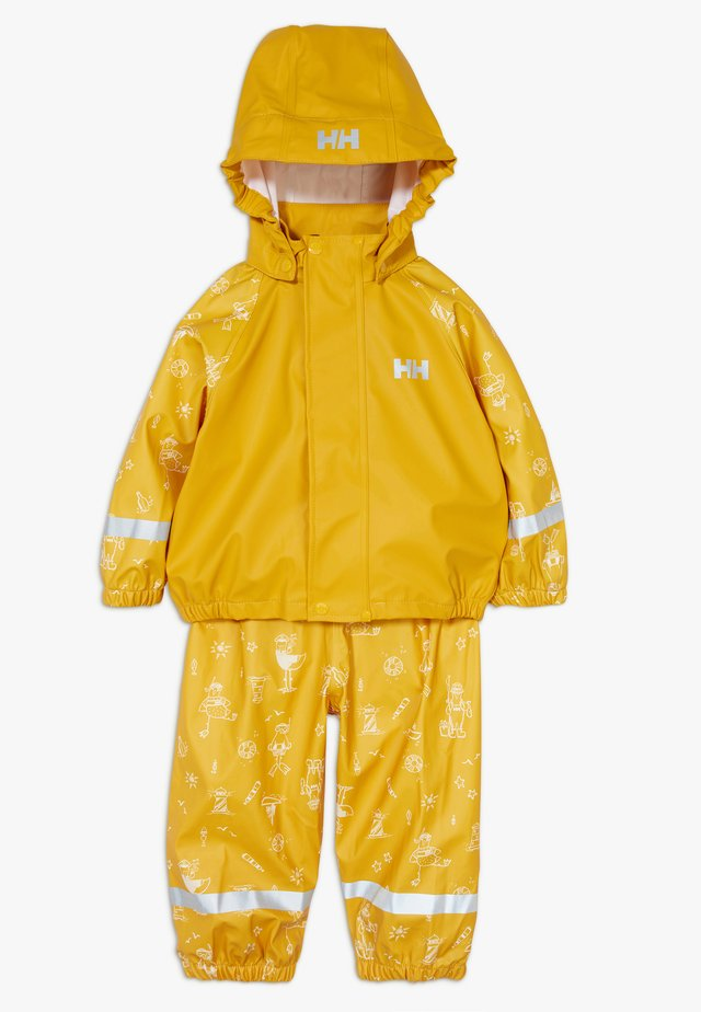 BERGEN RAIN SET - Regnjacka - essential yellow