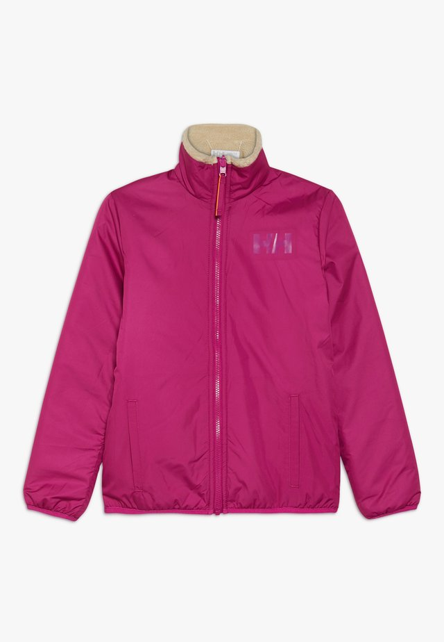 REVERSIBLE PILE JACKET - Outdoor jacket - festival fuchsia