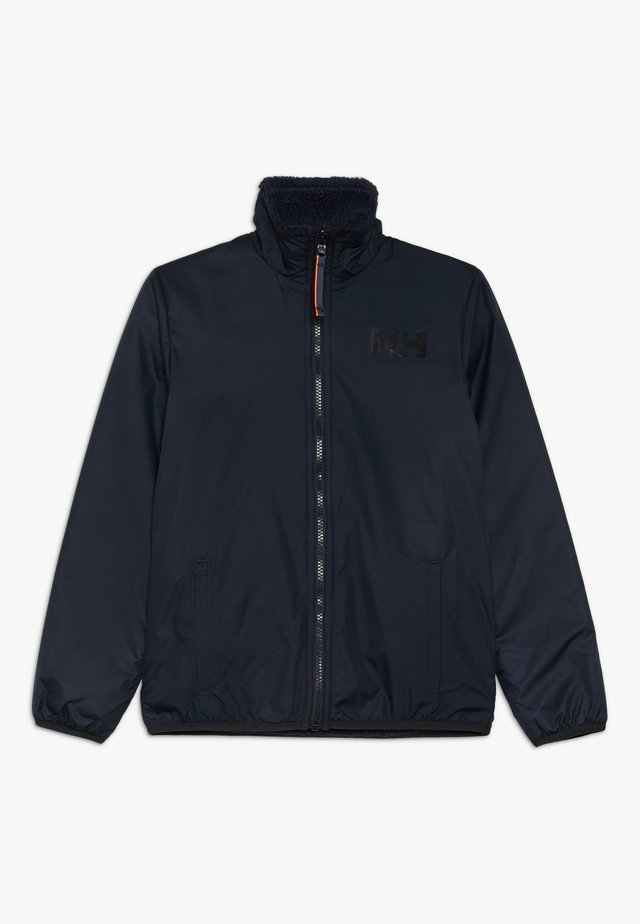 REVERSIBLE PILE JACKET - Outdoorjacka - navy