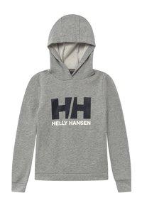 Helly Hansen - LOGO HOODIE - Luvtröja - grey melange - 0