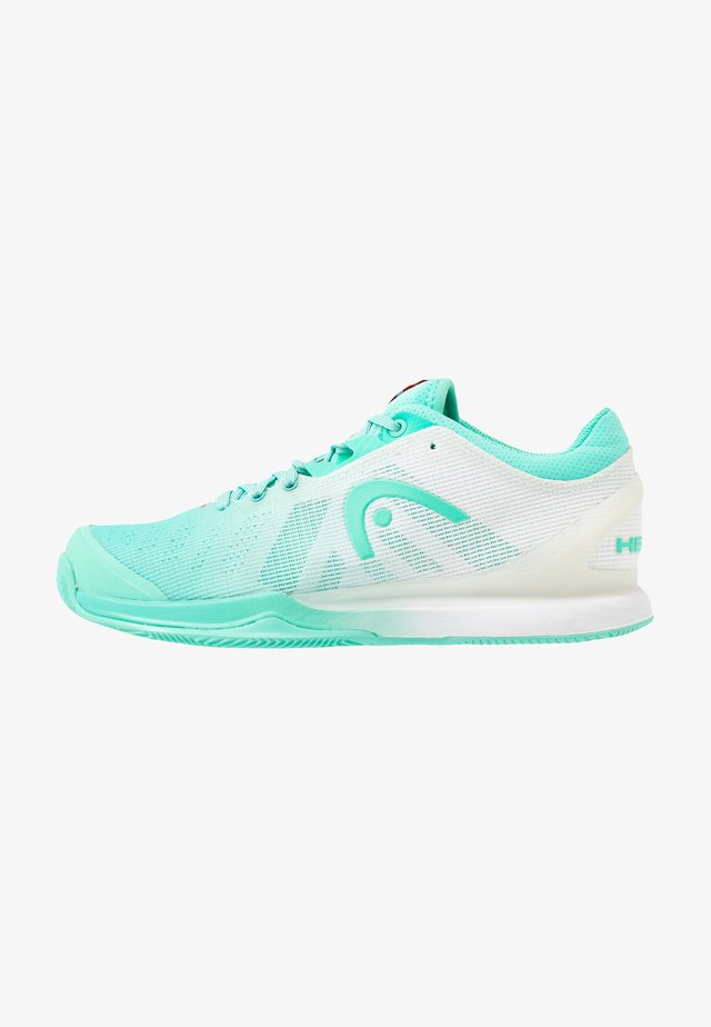 SPRINT PRO 3.0 CLAY - Tennissko til grusbane - teal/white