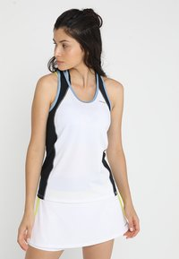 Head - TALIA TANK - Linne - white/yellow - 0