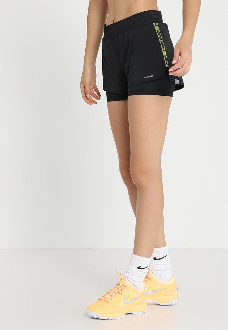 Head - ADVANTAGE SHORTS  - Sports shorts - black