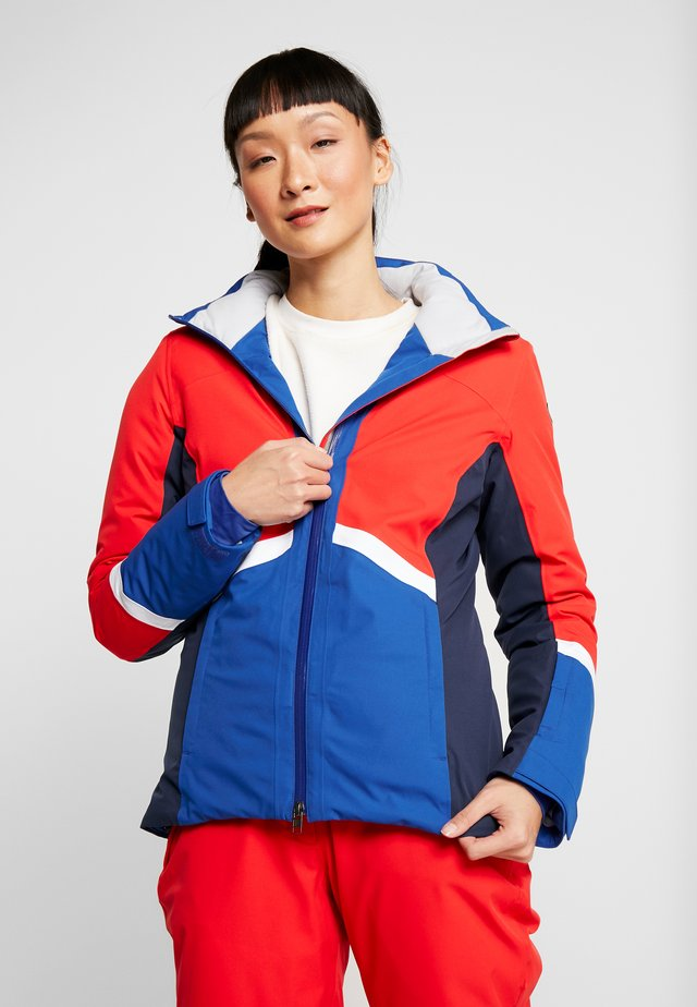 COSMOS JACKET - Kurtka narciarska - red/royal blue