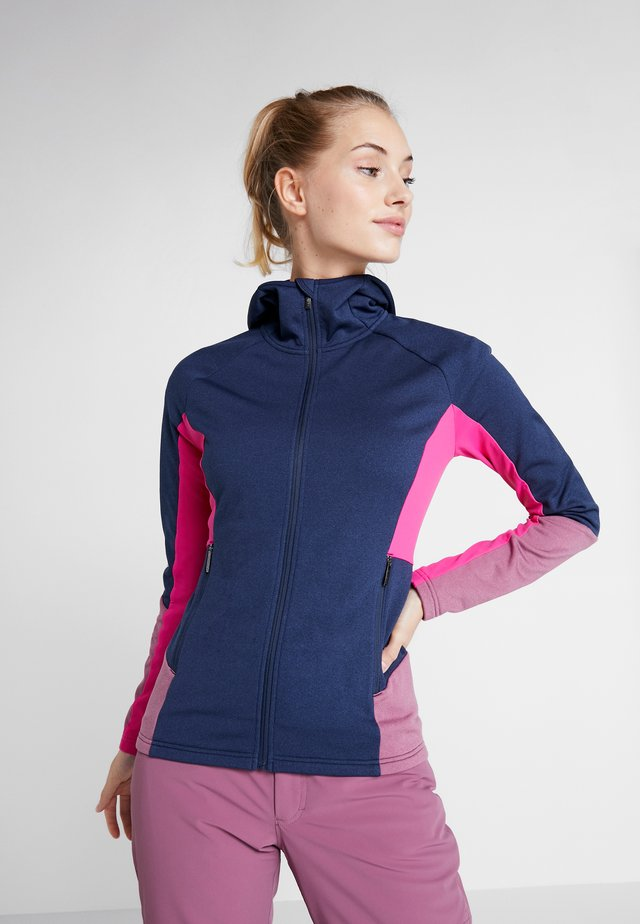 MADELYN MIDLAYER  - Fleecová bunda - dark blue/pink